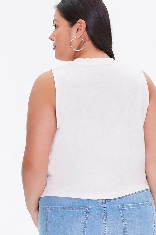Plus Size Racing Graphic Muscle Tee, image 3