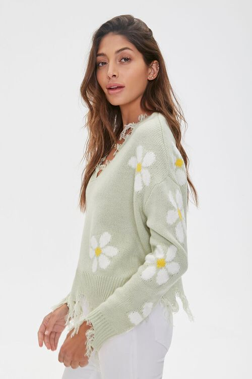 Distressed Daisy Sweater, image 2