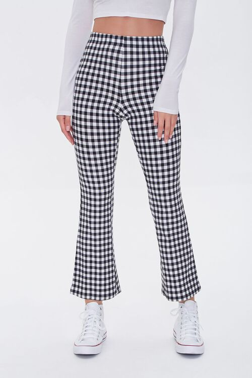 Gingham Flare Pants, image 2