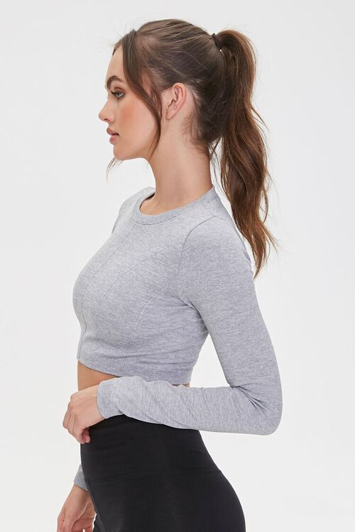 Active Seamless Heathered Top, image 2
