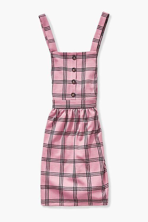 Girls Plaid Buttoned Dress (Kids), image 1