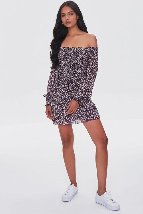 Floral Off-the-Shoulder Mini Dress, image 4