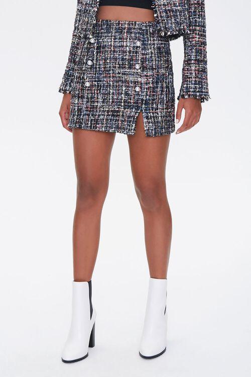 Frayed Tweed Mini Skirt, image 2