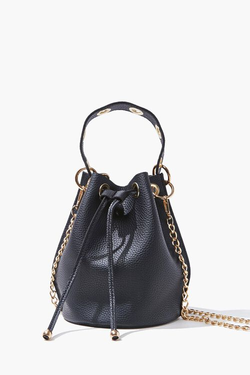 Faux Leather Bucket Bag, image 1