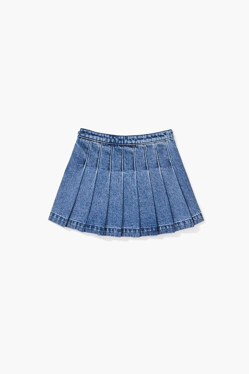 Girls Pleated Denim Skirt (Kids), image 2