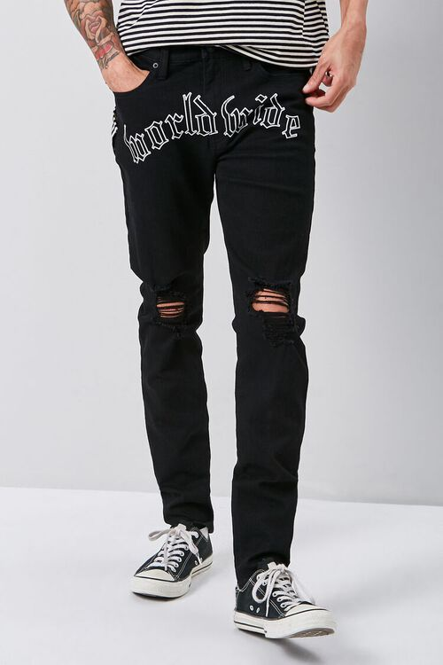 Worldwide Graphic Skinny Jeans, image 2