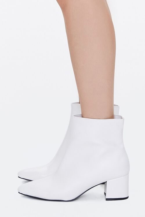 Faux Patent Leather Booties, image 2