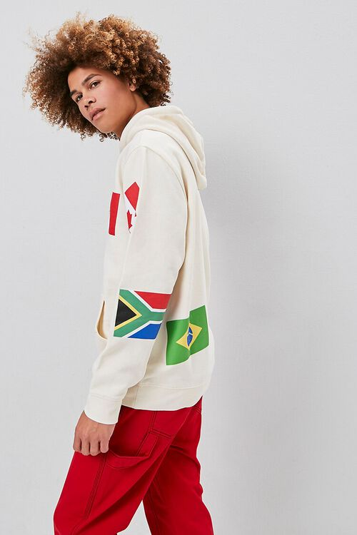 World Flags Graphic Hoodie, image 2