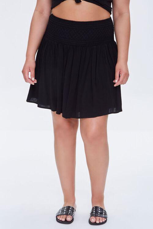 Plus Size Smocked Mini Skirt, image 2