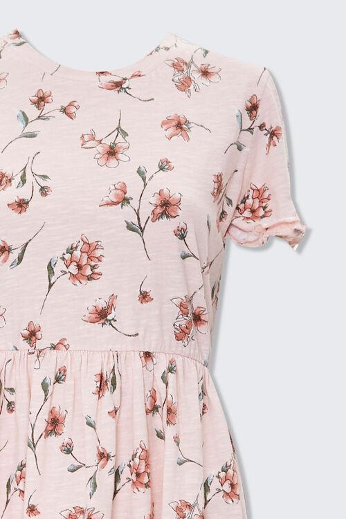 LIGHT PINK/MULTI Ruffled Floral Mini Dress, image 3
