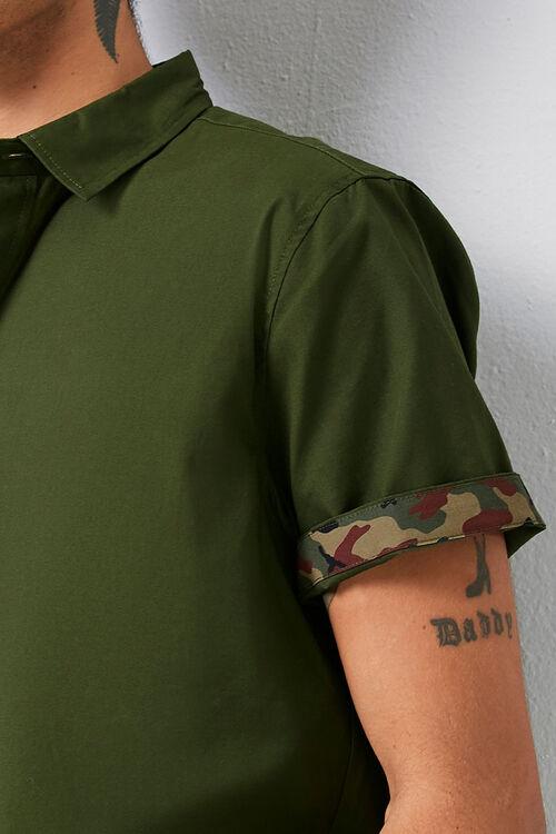 Classic Fit Camo-Trim Shirt, image 5