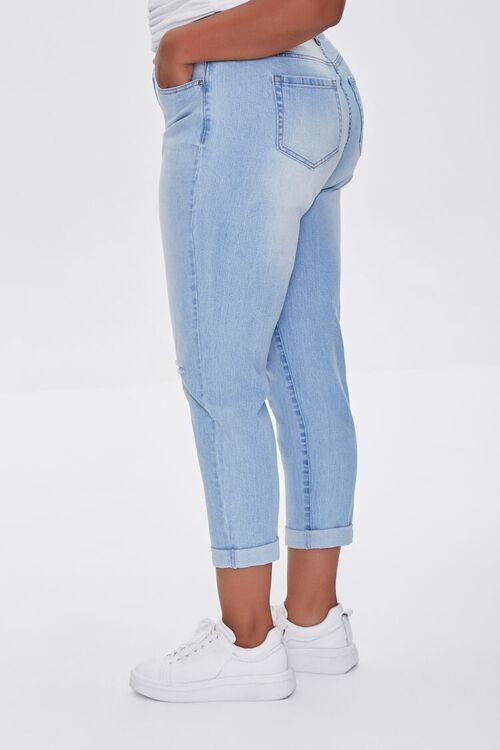 LIGHT DENIM Plus Size Premium Boyfriend Jeans, image 3
