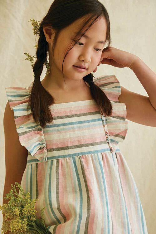 Girls Striped Linen-Blend Top (Kids), image 1