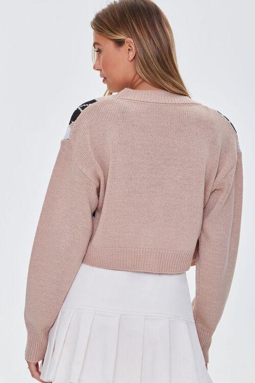 BLUSH/MULTI Argyle Bandeau & Cardigan Sweater Set, image 3