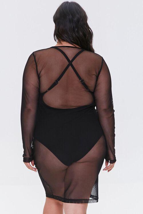 Plus Size Mesh Swim Cover-Up Dress, image 3