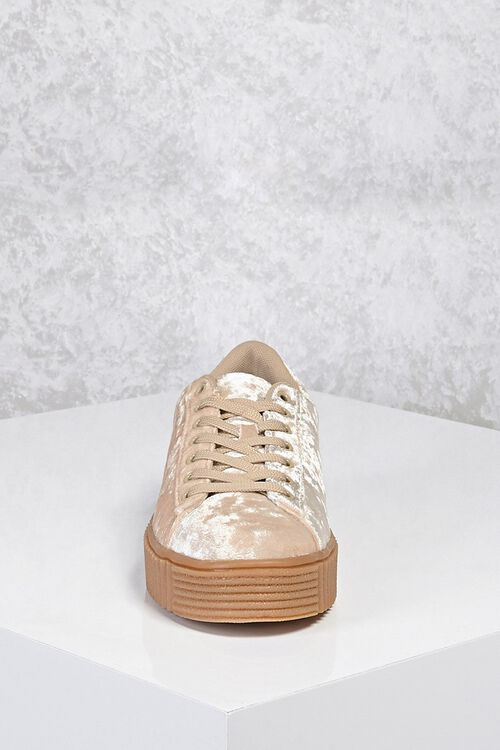 Crushed Velvet Low-Top Sneakers, image 5
