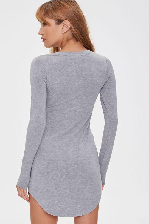 HEATHER GREY Mini T-Shirt Dress, image 3