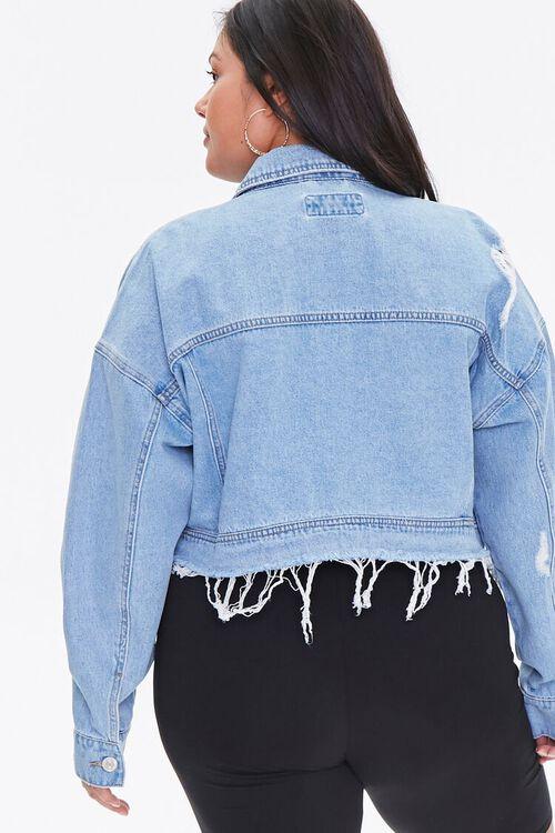 Plus Size Raw-Hem Denim Jacket, image 3