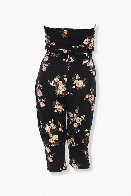 Plus Size Floral Tube Jumpsuit, image 3