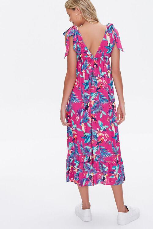 MAGENTA/MULTI Tropical Print Midi Dress, image 4