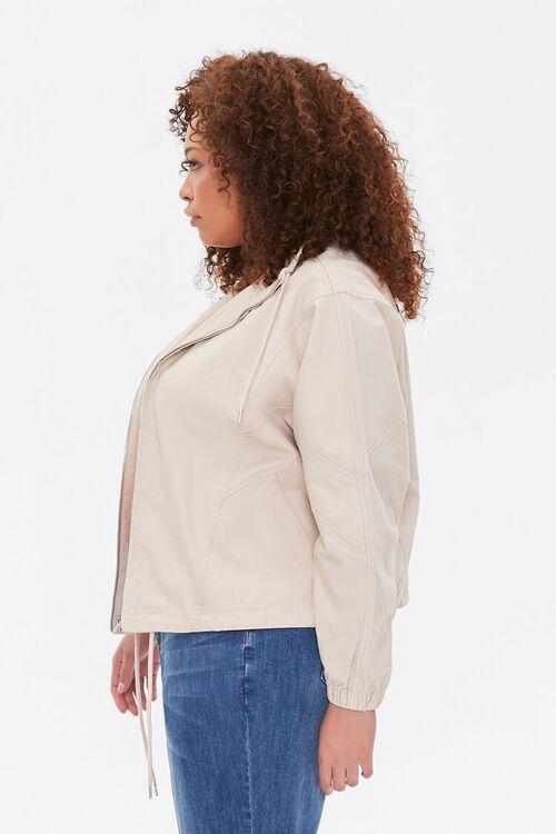 Plus Size Drawstring-Hem Jacket, image 3