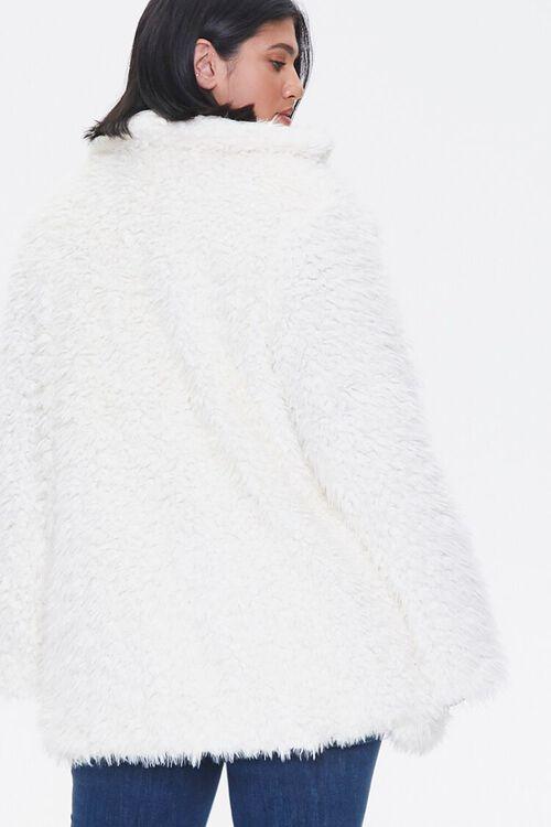 Plus Size Shaggy Faux Fur Coat, image 3