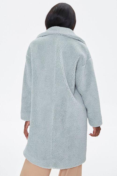 Faux Shearling Longline Coat, image 3