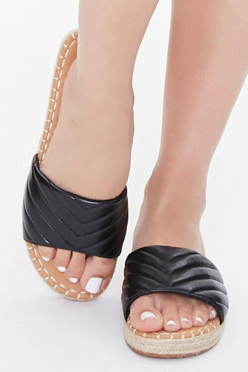Quilted Espadrille Flatform Sandals, image 4