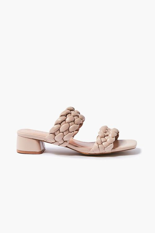 Faux Leather Braided Heels, image 1