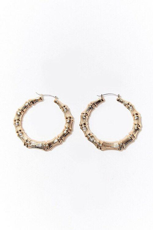 Bamboo Hoop Earrings, image 2