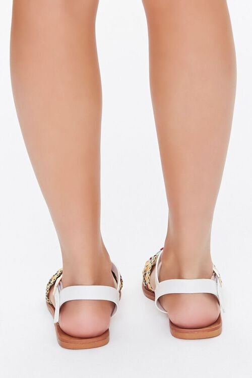 Knotted Geo Print Sandals, image 4