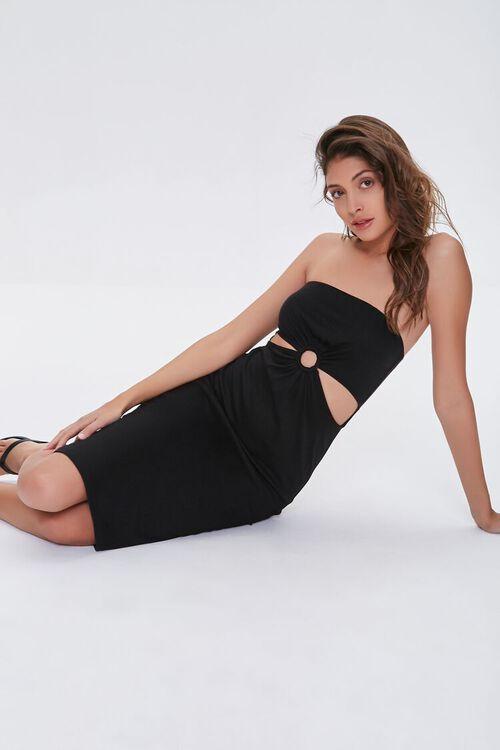 BLACK Cutout Bodycon Dress, image 1