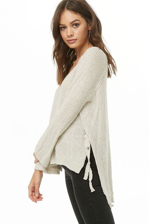 High-Low Side-Tie Sweater, image 1