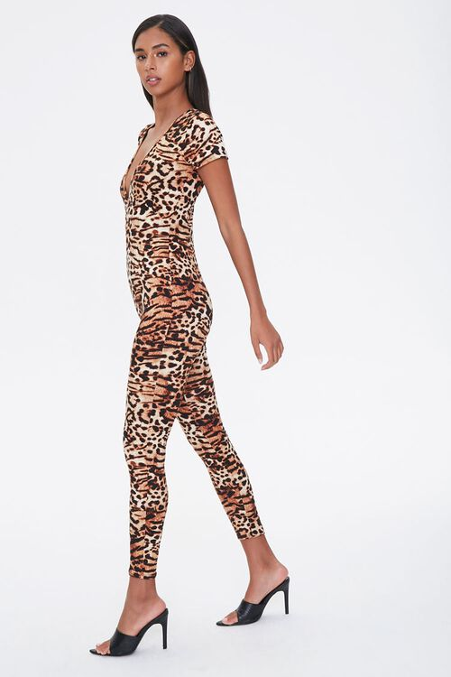 Leopard Print V-Neck Jumpsuit, image 2