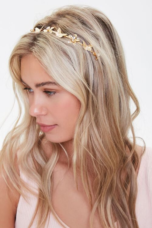 Floral Butterfly Charm Headband, image 2