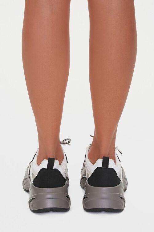BLACK/WHITE Colorblock Low-Top Sneakers, image 3