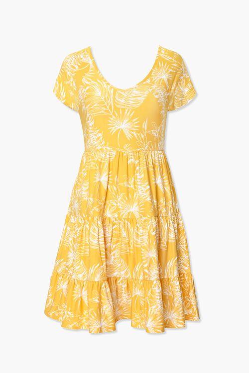 Tropical Leaf Print Dress, image 1