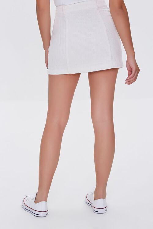 Corduroy Button-Front Mini Skirt, image 4