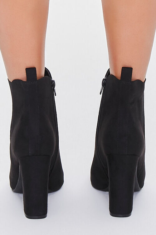 Faux Suede Pointed Toe Booties, image 3