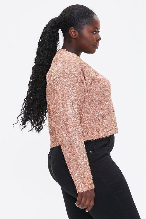 Plus Size Metallic Cardigan Sweater, image 2