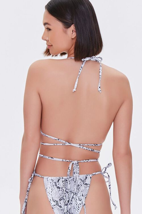 Snake Print Triangle Bikini Top, image 3