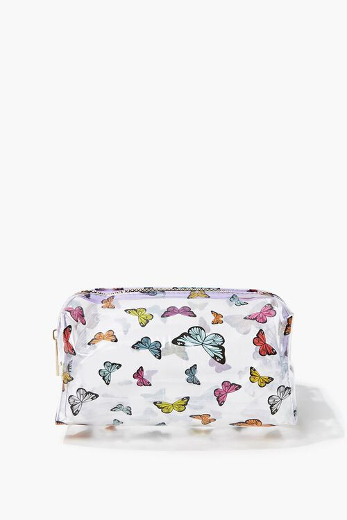 Butterfly Print Transparent Square Bag, image 1
