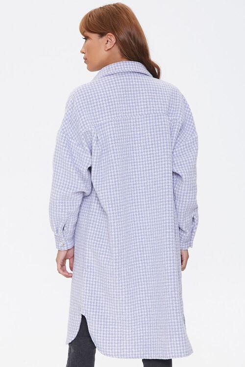 Brushed Houndstooth Longline Coat, image 3