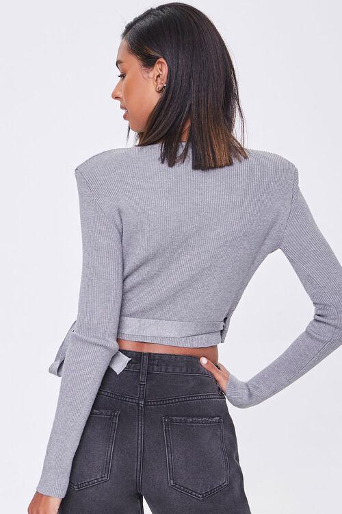 Surplice Shoulder-Pad Sweater, image 3