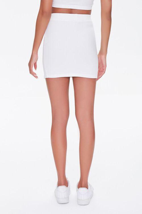 WHITE Vented Mini Skirt, image 4
