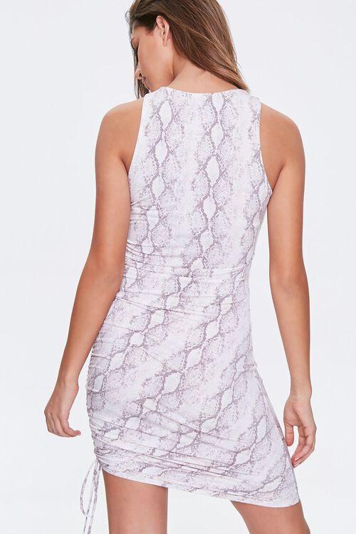 Snake Print Drawstring Dress, image 3