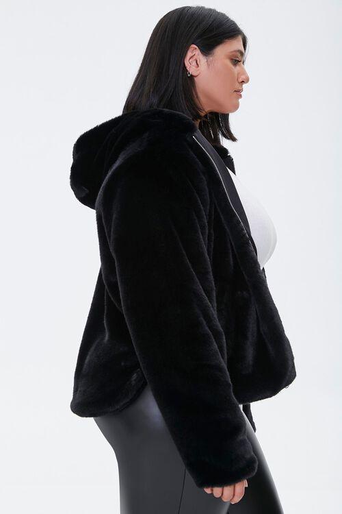Plus Size Plush Hooded Jacket, image 2