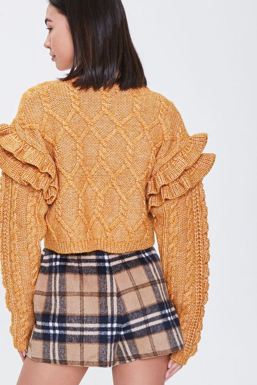 Cable Knit Ruffle Sweater, image 4