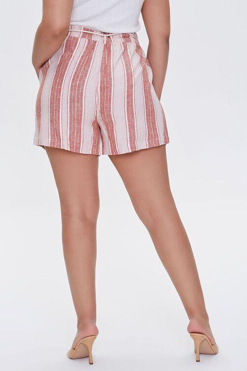 Plus Size Striped Linen-Blend Shorts, image 4