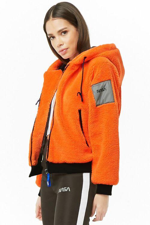 NASA Hooded Faux Fur Jacket, image 3